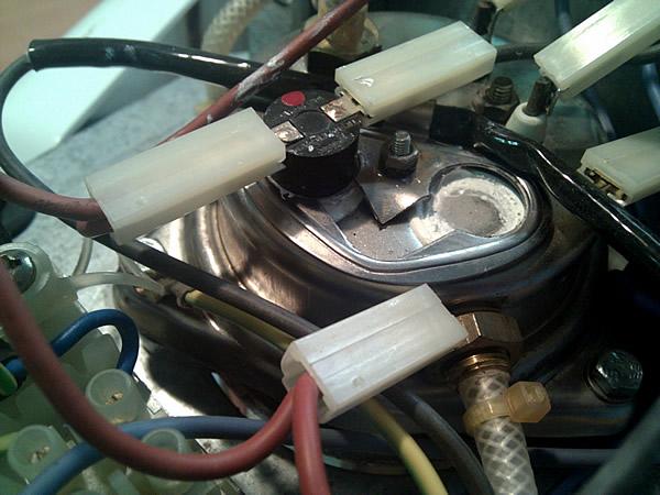 Caldera i termòstats de la Mini Moka M-600