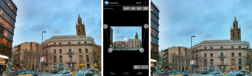 Correcció de perspectiva amb Photo Editor per Android